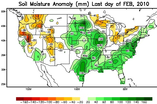 Soil Moisture Anomalies February 28